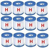 Intex Zwembad Filtercartridge Type H - 29008 - 12 stuks