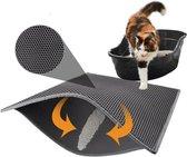 Kattenbakmat - Grit Opvanger - 45 x 60 - Waterdicht - Kattenmat Met Filter - Kattenbak Accessoires - Kat Benodigheden - Cat Litter Mat - Dubbele Laag