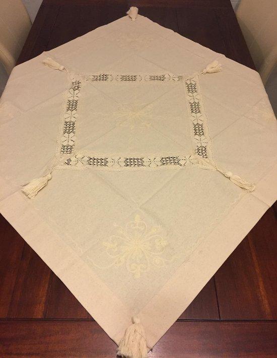 Katoenen tafelkleed 100x100 cm - Naturel