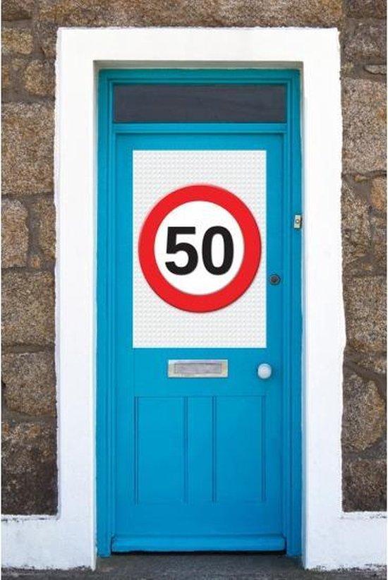 50 jaar verkeersbord mega deurposter