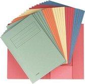 Class'ex dossiermap formaat 237 x 347 cm (voor formaat folio) geassorteerde kleuren pak van 25 stuks