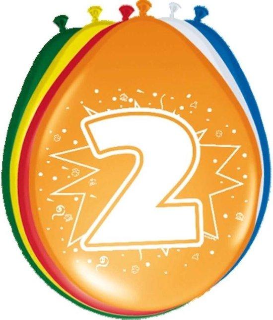 24x stuks Ballonnen versiering 2 jaar