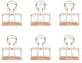 Kikkerland Paperclips - Set van 6 - Voor thuis en op kantoor - Koper