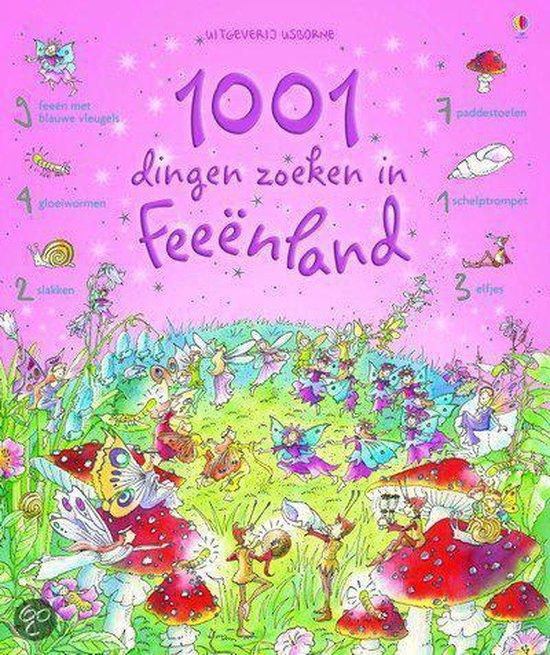 Cover van het boek '1001 dingen zoeken in Feenland' van Gillian Doherty en Teri Gower
