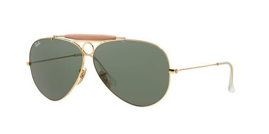   Ray Ban RB3138 001 Shooter zonnebril Goud