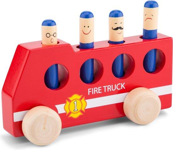 New Classic Toys Speelgoed Brandweerauto Pop-Up