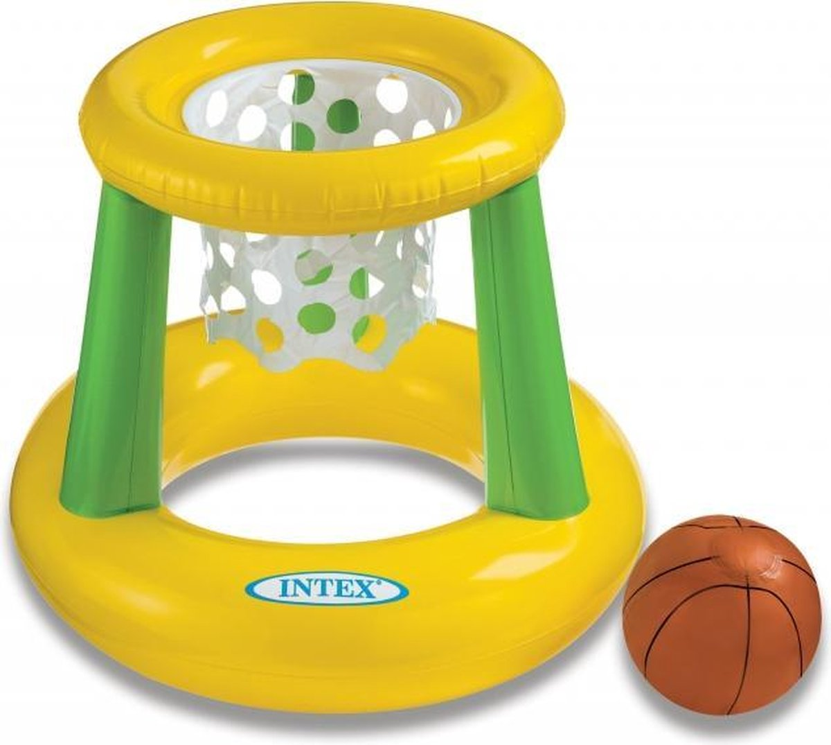 Intex drijvende basket opblaasbaar met bal 67 x 55 cm