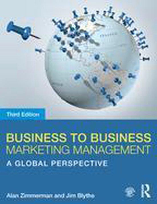 Boek cover Business to Business Marketing Management van Alan Zimmerman (Onbekend)