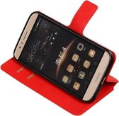 BestCases.nl Rood Huawei G8 TPU wallet case booktype hoesje HM Book