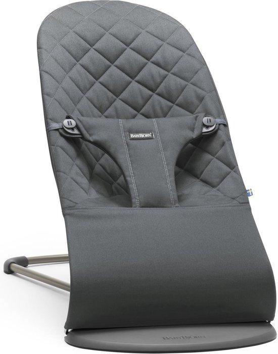 Product: BABYBJÖRN Wipstoel Bliss Donkergrijs frame - Cotton klassiek quilt - Antraciet, van het merk BabyBjörn