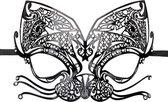Opengewerkt Venetiaans masker zwart