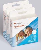 Walther Design FT025TA - Fototape - Zelfklevend - 3 x 1000 pagina's - 24 pagina's Carton