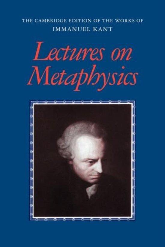 Boek cover Lectures on Metaphysics van Immanuel Kant (Paperback)
