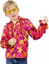 Hippie blouse met rouches voor kinderen 116