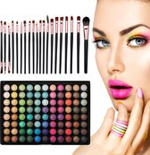 Evvie Ultimate Eyeshadow Kit - 20 Make-up Kwasten met 88 Kleuren Oogschaduw Palette