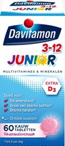 Davitamon Junior 3+ kauwvitamines - multivitamine kind - framboos - 60 tabletten