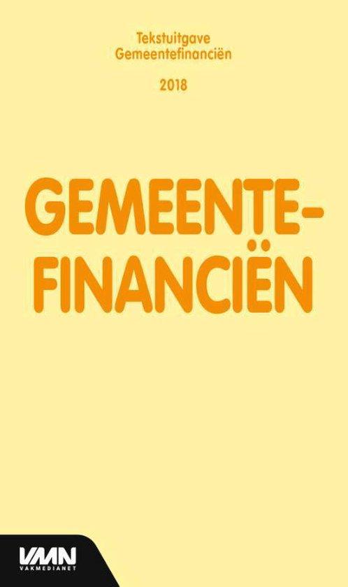 Tekstuitgave - Gemeentefinanciën 2018 - none |