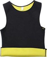 SaunaFit Thermisch Herenshirt - Maat XL - Zwart/geel - Gezond en makkelijk afvallen