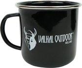 Valhal Outdoor emaille Mok - VH0.4M - 0.4L , zwart geëmailleerd staal
