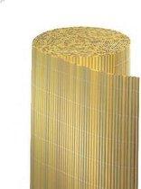 Kunststof balkonscherm op rol H90xB300 cm | Bamboe