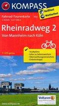 Kompass FK7012 Rheinradweg 2, Von Mannheim nach Köln