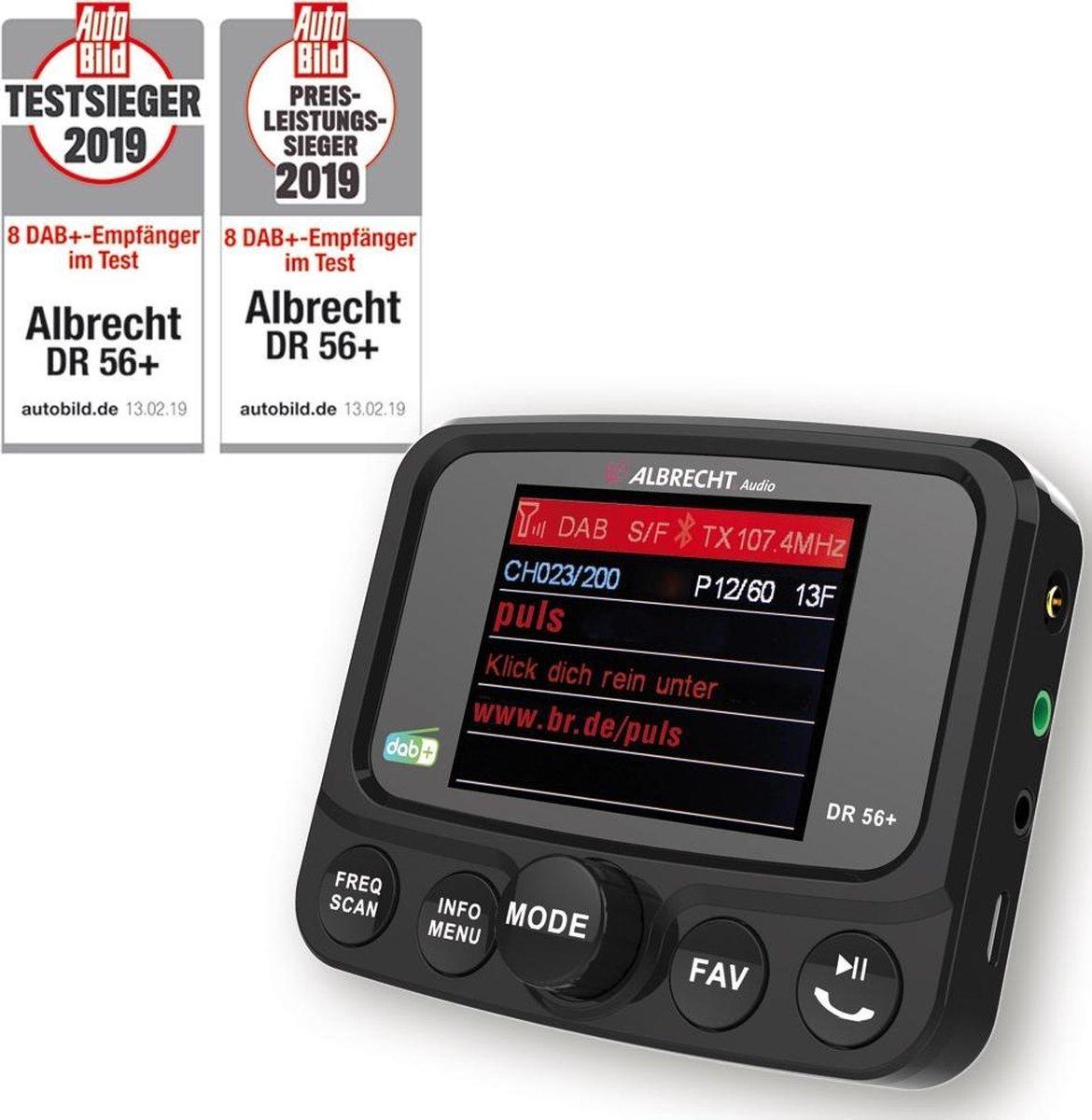 Albrecht DR 56+ DAB+ Autoradio adapter met bluetooth