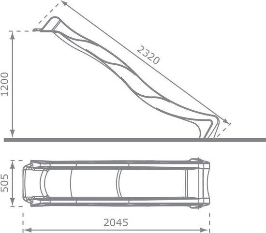 Losse glijbaan Rex voor Platformhoogte 120cm - Appelgroen
