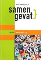 Boek cover Samengevat Vmbo Nederlands 2F van J. van Nassau