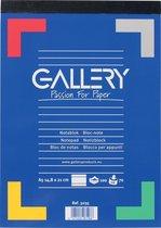 Gallery schrijfblok formaat 148 x 21 cm (A5) gelijnd blok van 100 vel