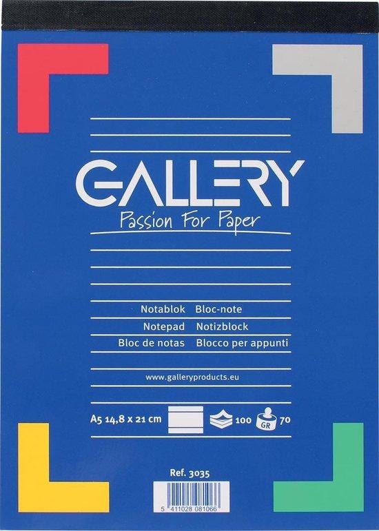 Afbeelding van Gallery schrijfblok formaat 148 x 21 cm (A5) gelijnd blok van 100 vel