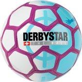 Derbystar Mini Voetbal Mini Ball Street Soccer Wit Blauw Paars maat 0