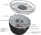 LotusGrill Classic Hybrid Tafelbarbecue - Ø350mm - Antraciet