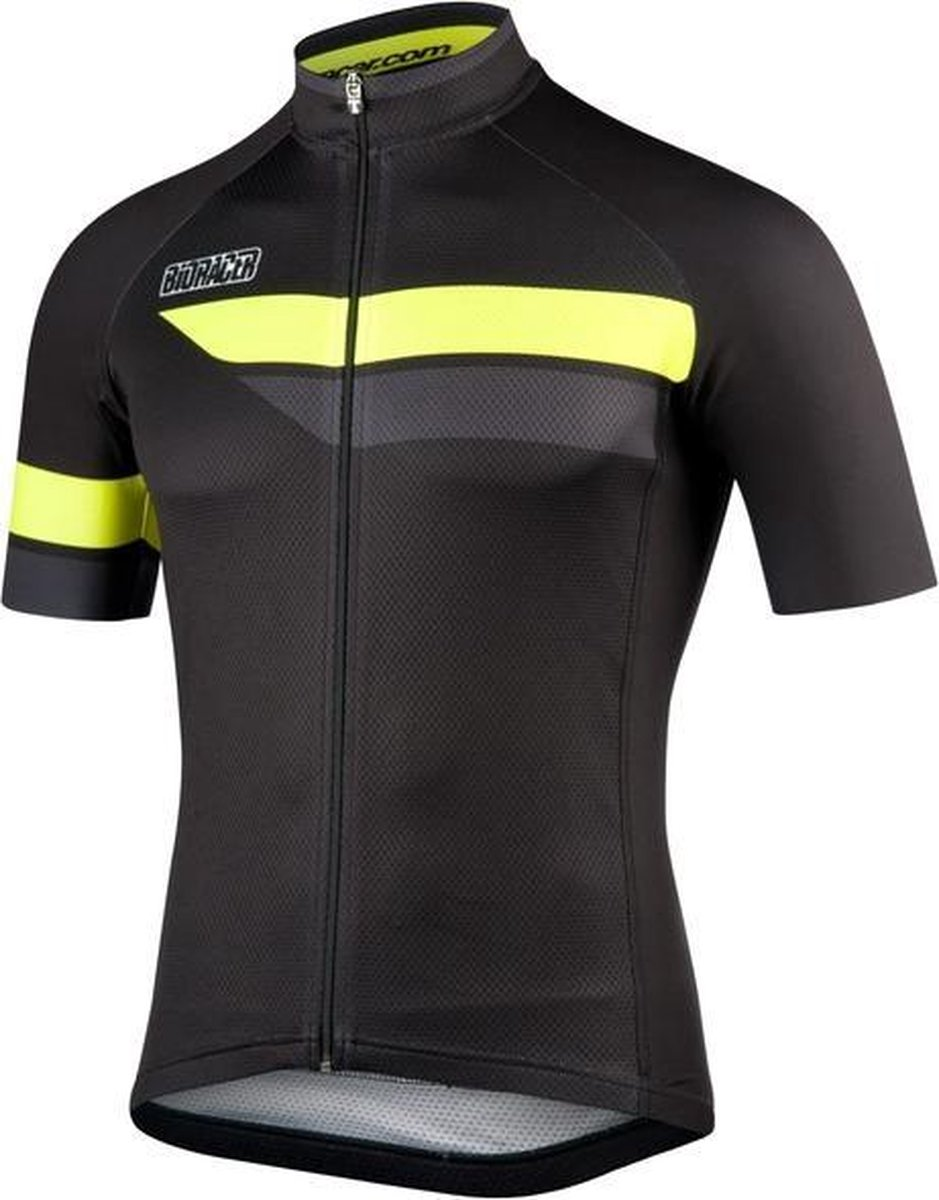 Bioracer Team Short Sleeve 2.0 Black/Fluo Size L