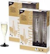 Champagneglazen - Plastic - Wegwerp - 40 stuks