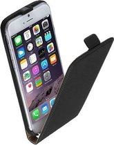Zwart lederen flip case voor Apple iPhone 7 PLUS Telefoonhoesje