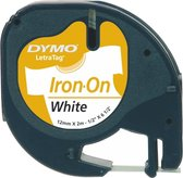 Afbeelding van Dymo LetraTAG - Iron-on tape / Wit /  Roll (1.2 cm x 2 m)
