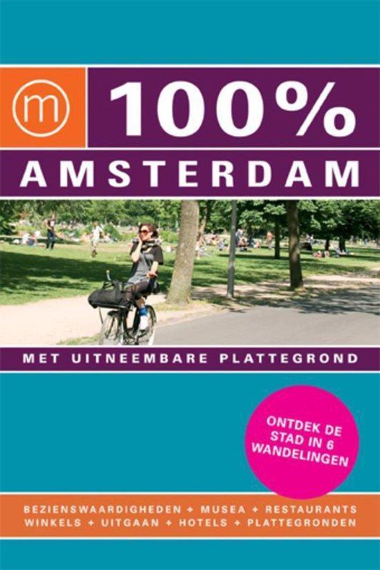 Cover van het boek '100% Amsterdam / druk Heruitgave' van Evelien Vehof