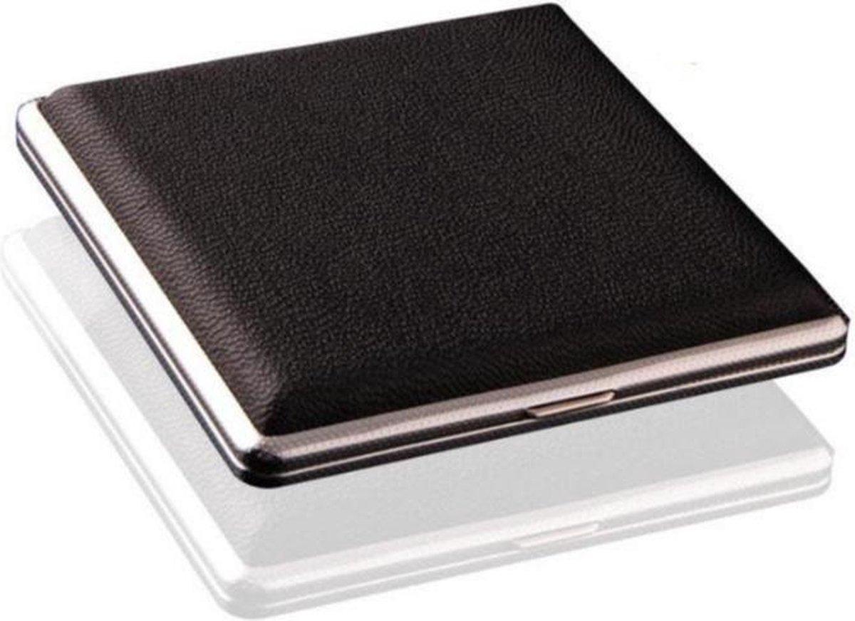 Luxe Sigarettenhouder - Hoge kwaliteit - Zwart - 20 Sigaretten - Sigaretten doosje