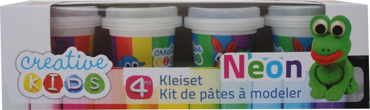 Creative Kids Klei Set Neon 4-delig 55 Gram