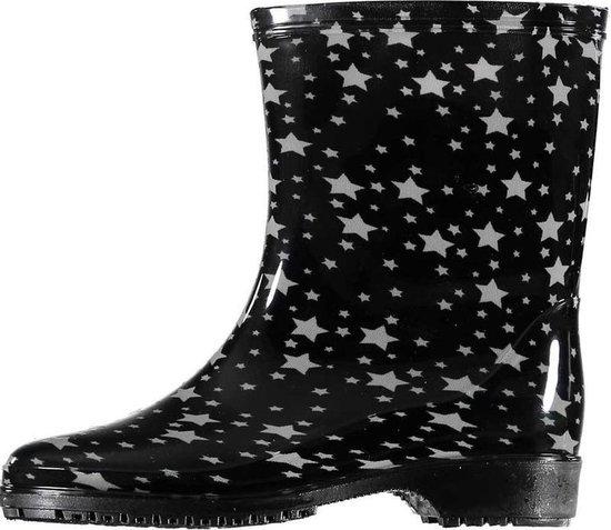   Half hoge dames regenlaarzen zwart met grijze