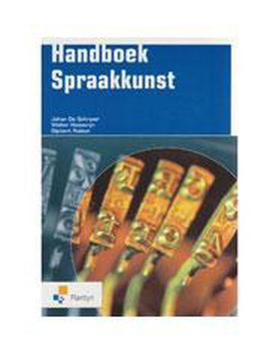 Handboek spraakkunst - Johan de Schryver | Fthsonline.com