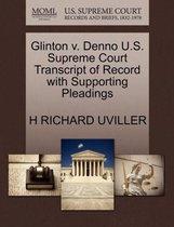 Glinton V. Denno U.S. Supreme Court Transcript of Record with Supporting Pleadings