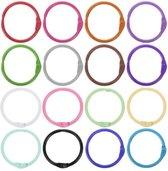 Flashcard Ringen 16 stuks, 16 Verschillende Kleuren verpakt  in een handige Ziperbag