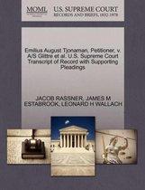 Omslag Emilius August Tjonaman, Petitioner, V. A/S Glittre Et Al. U.S. Supreme Court Transcript of Record with Supporting Pleadings