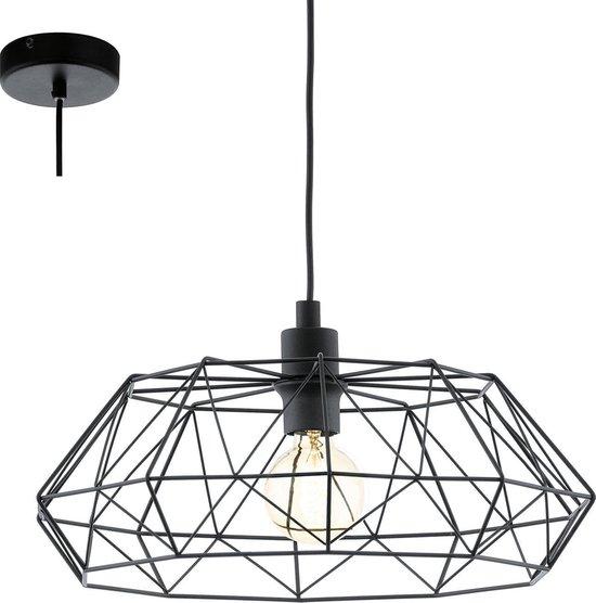EGLO Vintage Carlton 2 - Hanglamp - 1 Lichts - Ø455 mm. - Zwart