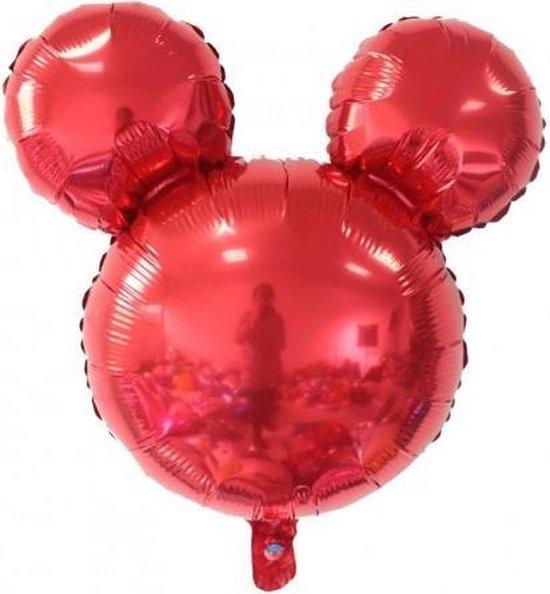 Folieballon Mickey Rood