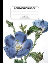 Composition Notebook with Vintage Flower, Unruled