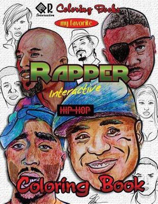 Afbeelding van My Favorite Rapper Interactive Hip-Hop Coloring Book