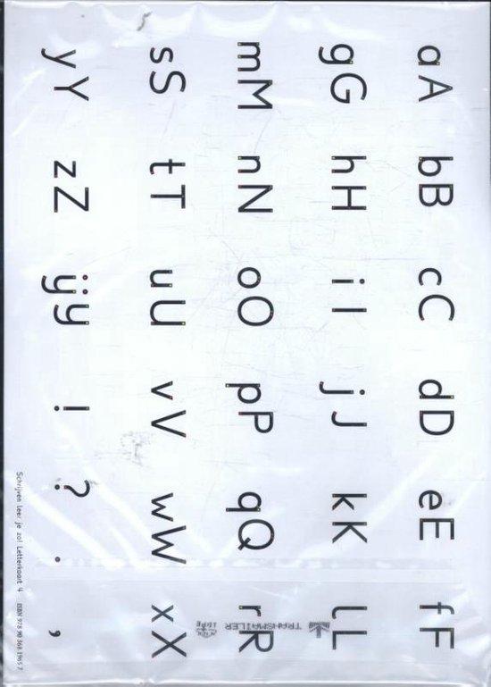 Schrijven leer je zo! letterkaart 4 - set van 5 ex - Henk Schweitzer |