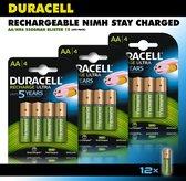 Duracell AA Oplaadbare Batterijen - 2500 mAh - 12 stuks